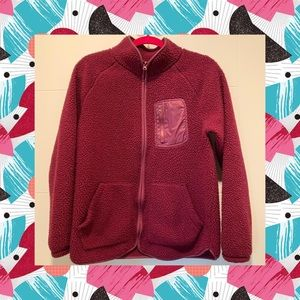 OLD NAVY Sherpa Jacket Burgundy